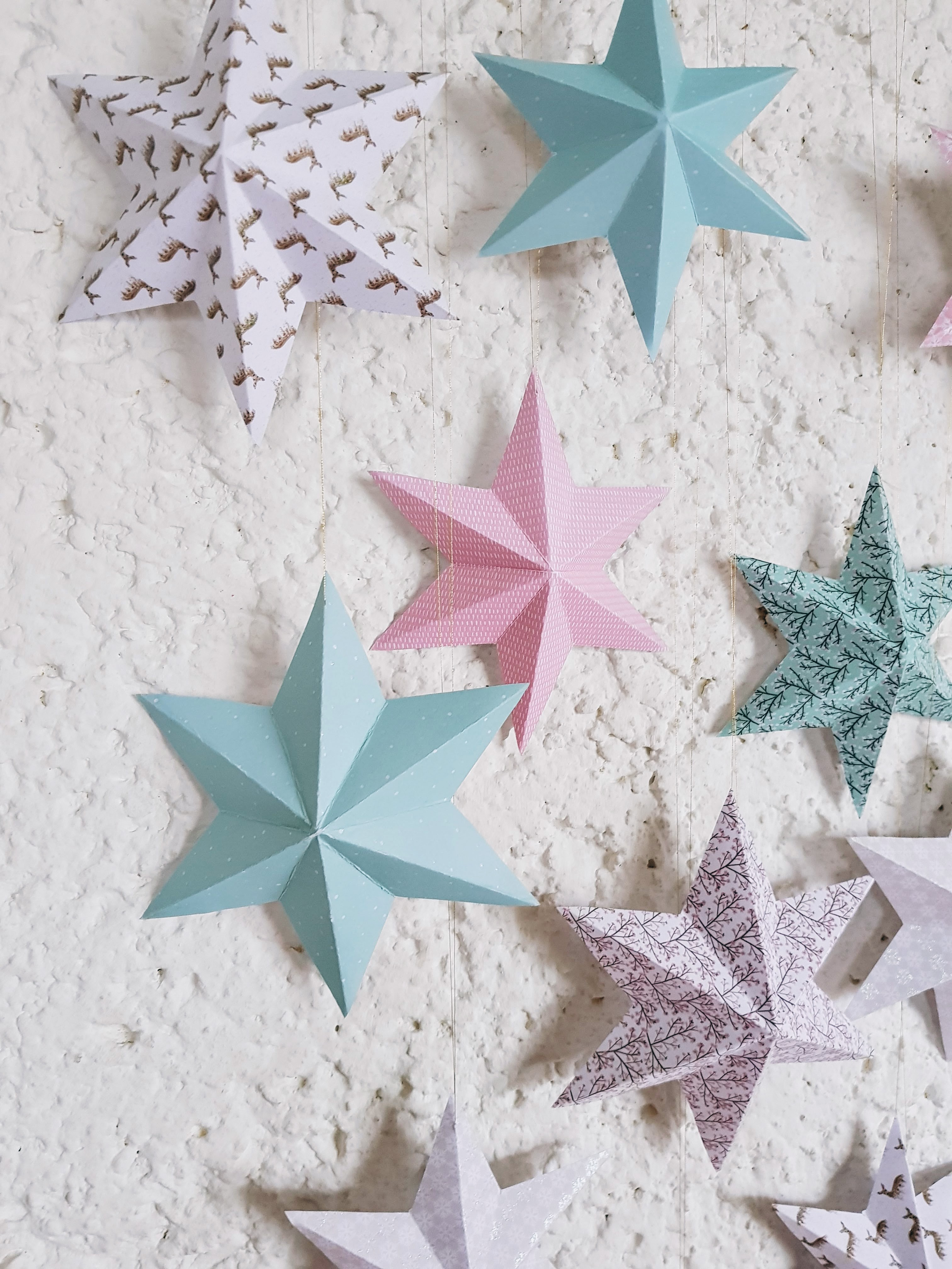 DIY // 3d Star Wall Hanger