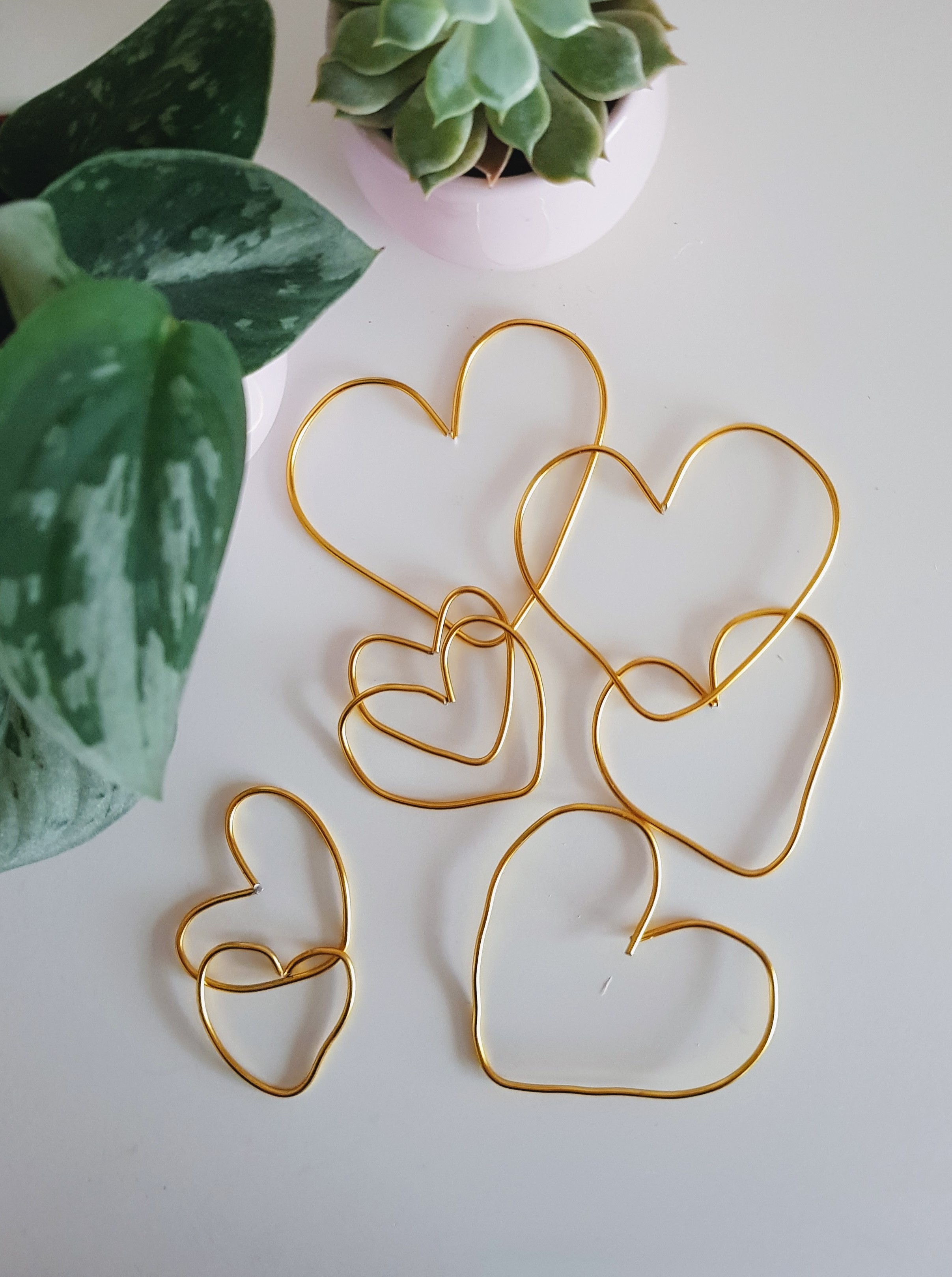 DIY // Simple Heart Ornaments