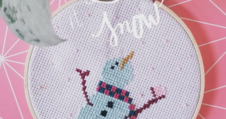 DIY // Cross Stitch Snowman