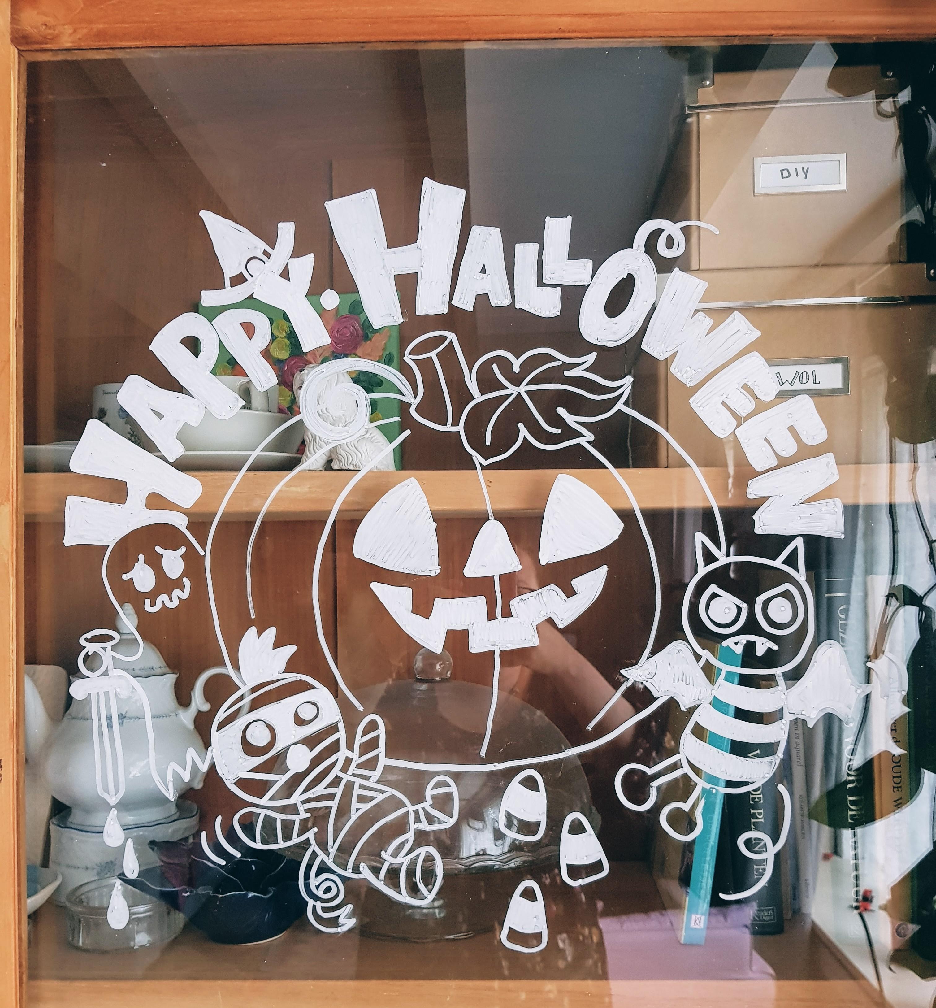 DIY // Halloween raamtekening van Raamtekening