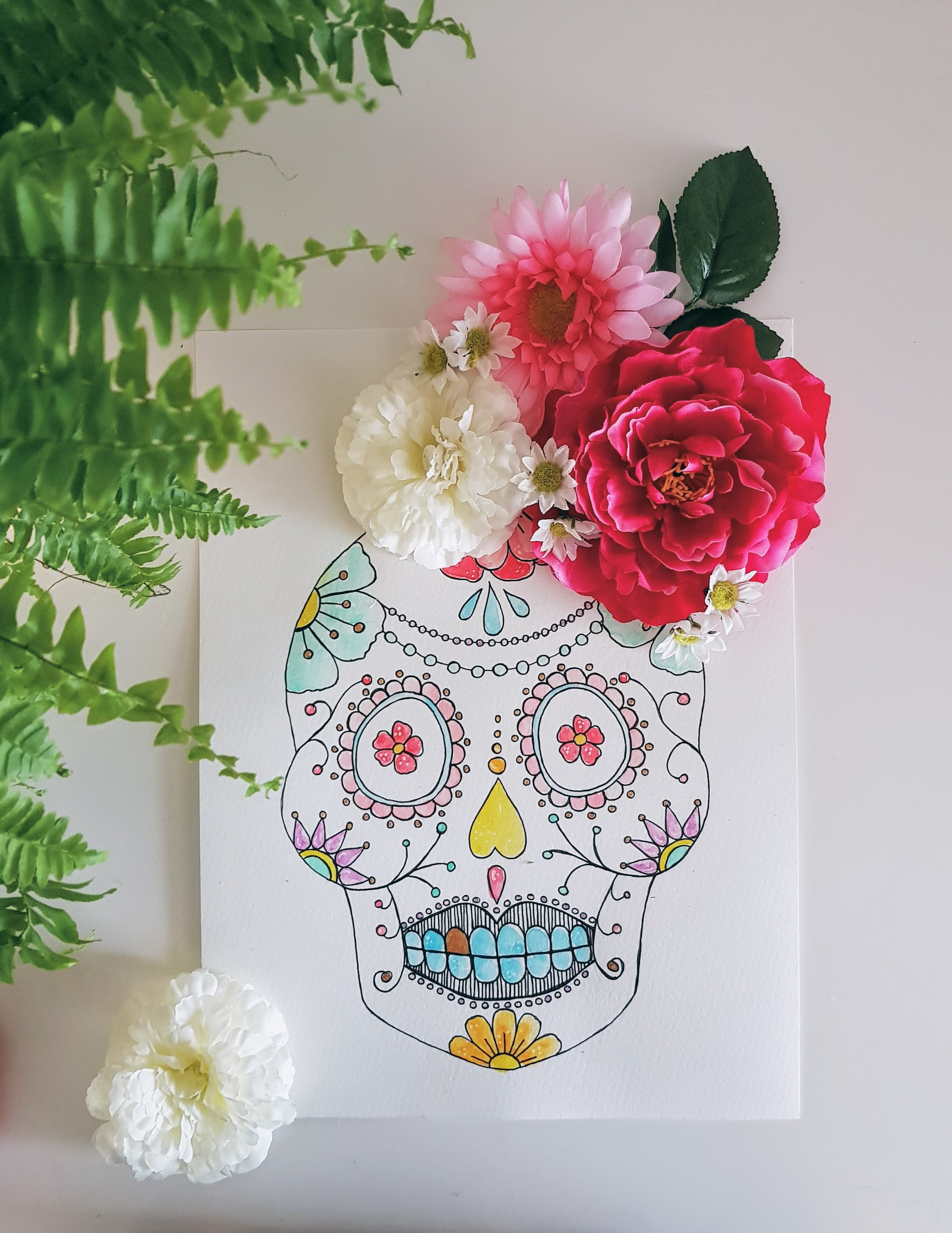 Illustratie // Sugar Skull