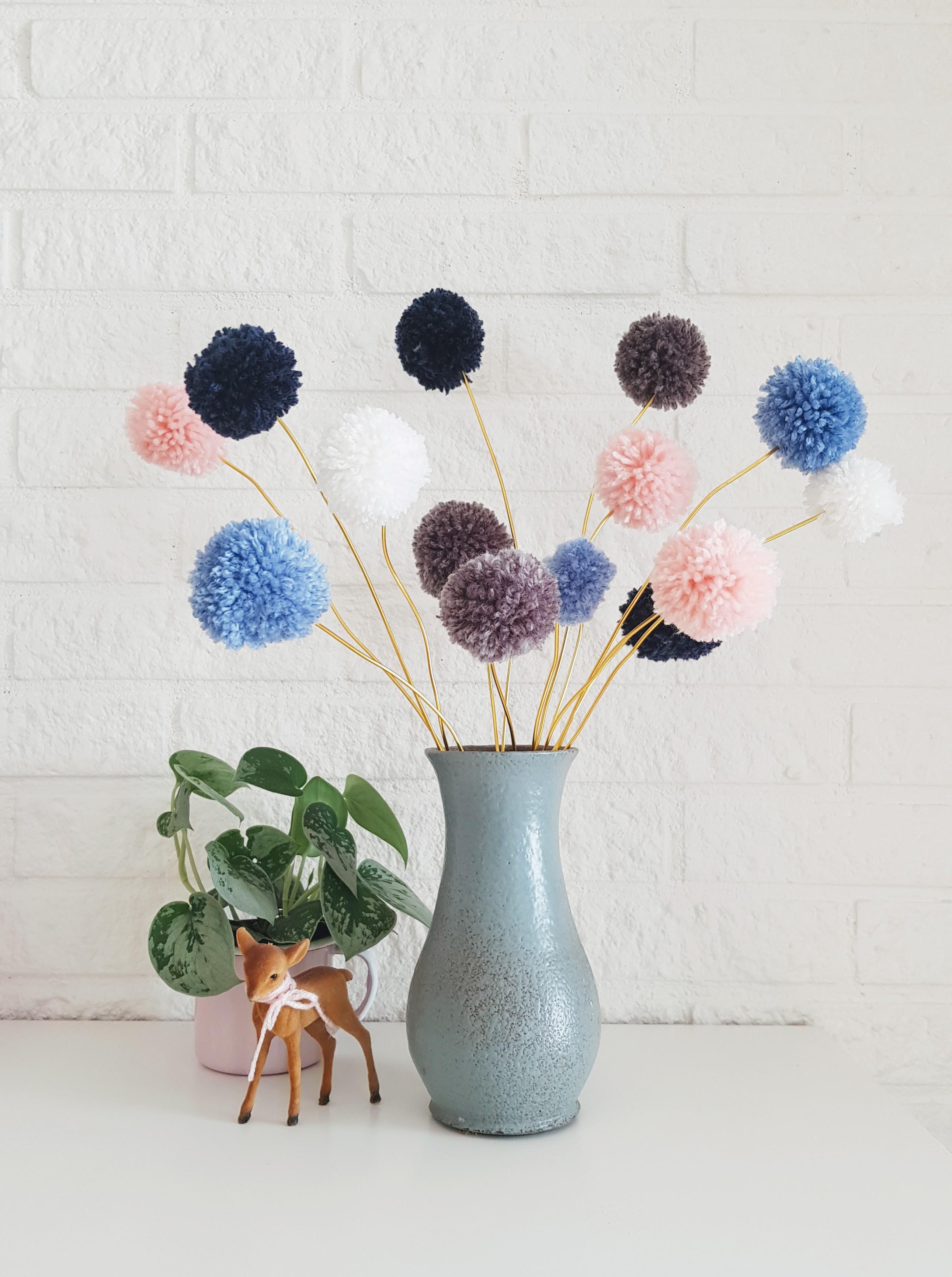 DIY // Pompon bloemen