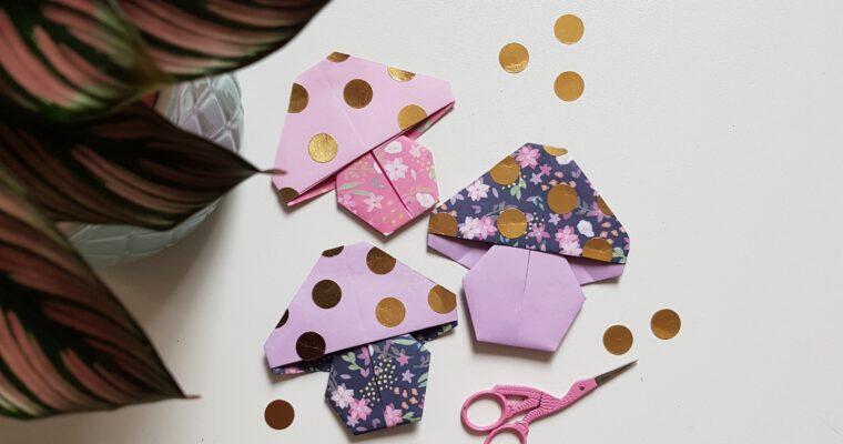 DIY//Origami Paddestoelen
