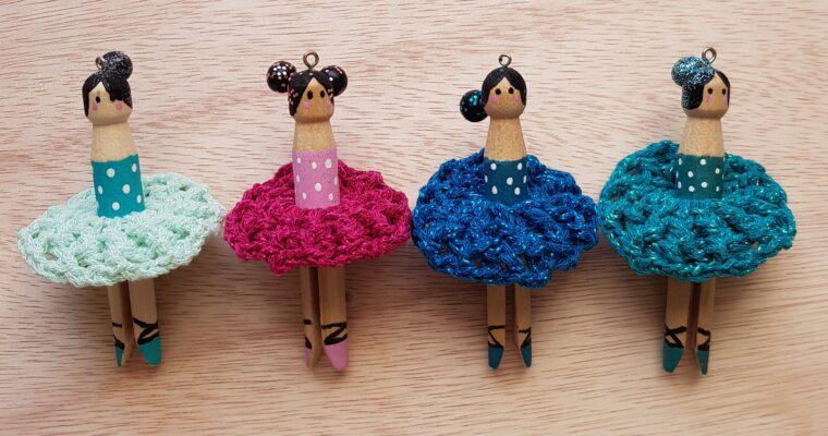 DIY Kerst // Wasknijper Ballerina's